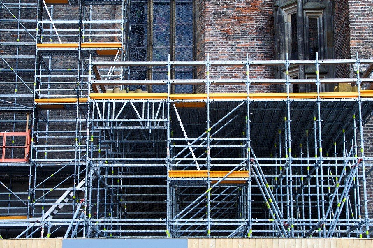 scaffold, panel, barrier